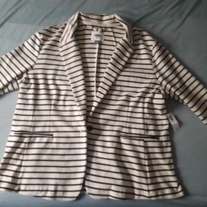Classic Old Navy Striped Blazer XXL NWT